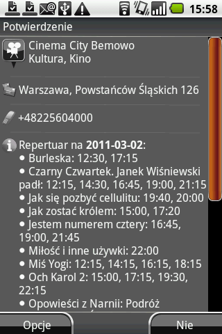 Screen z wyszukiwarki NaviExpert