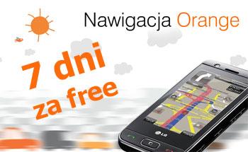 Nawigacja Orange 7 dni za free