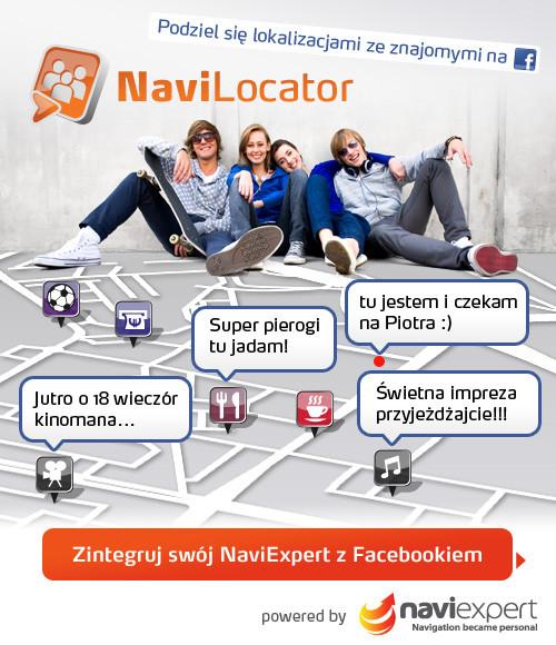 NaviLocator - nawigacja zintegrowana z Facebookiem