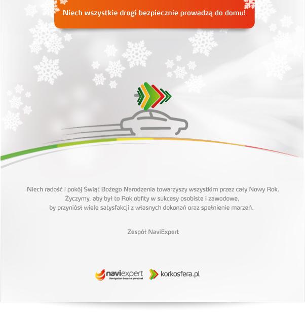 Kartka świąteczna NaviExpert