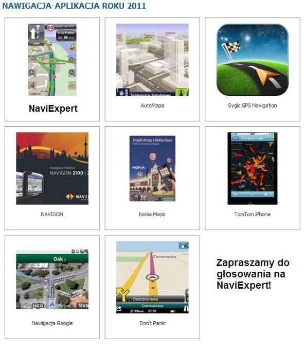 Konkurs Mobility Trends, Nawigacja roku 2011