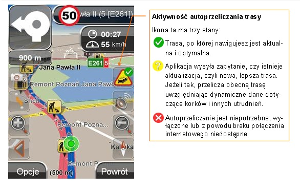 Autoprzeliczanie trasy w NaviExpert