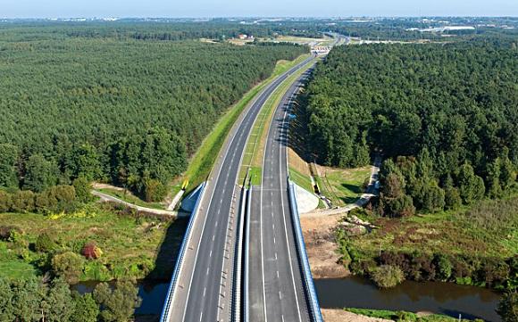 Autostrada A1 z lotu ptaka