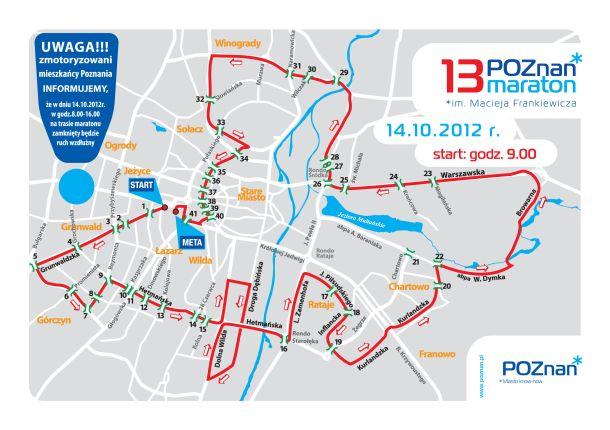13 Poznań Maraton Mapa