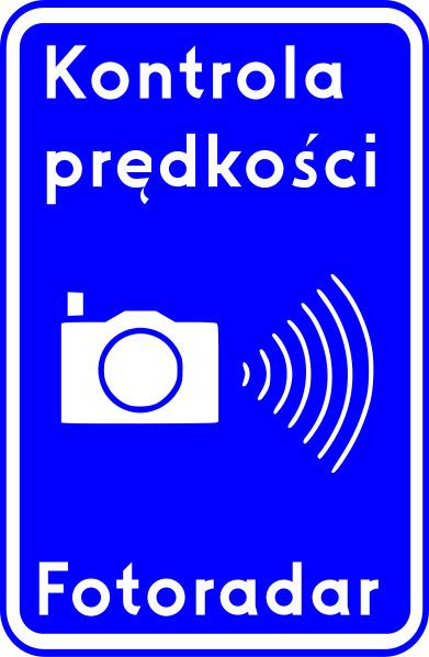 Znak Fotoradar - Kontrola prędkości
