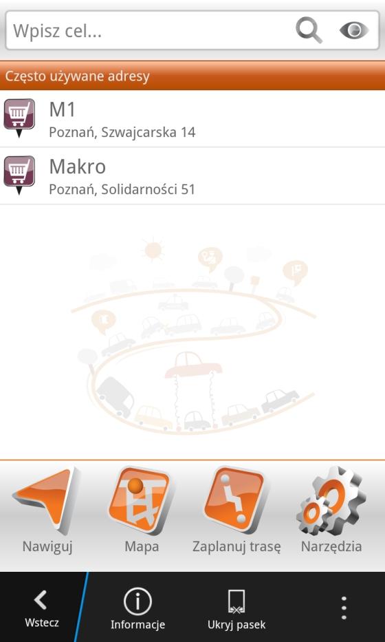 Nawigacja Orange od NaviExpert na BlackBerry 12