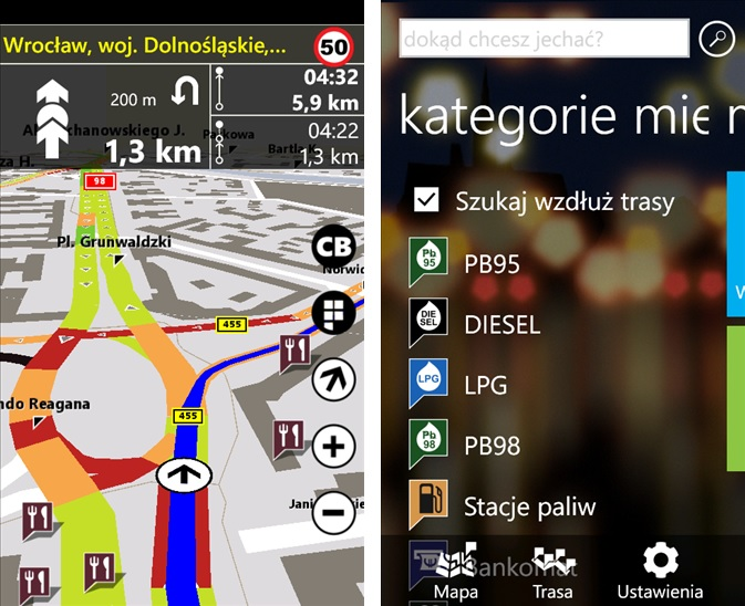 NaviExpert 1.5 na Windows Phone