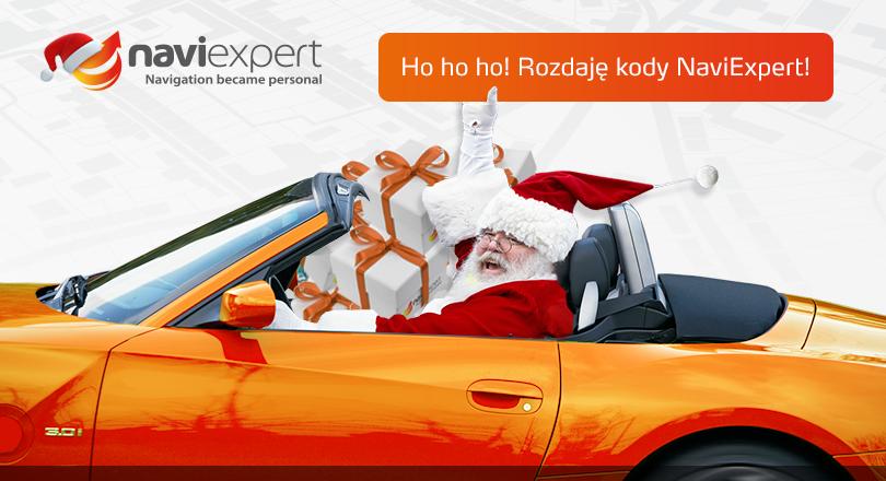Mikołaj rozdaje kody NaviExpert