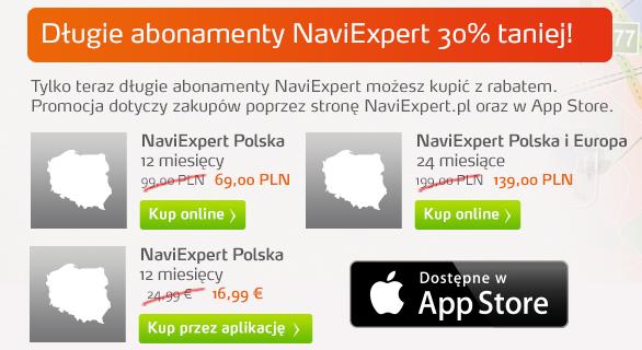 Promocje na długie abonamenty NaviExpert