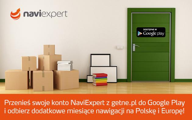 Przenieś konto z getne.pl do Google Play i odbierz licencję NaviExpert