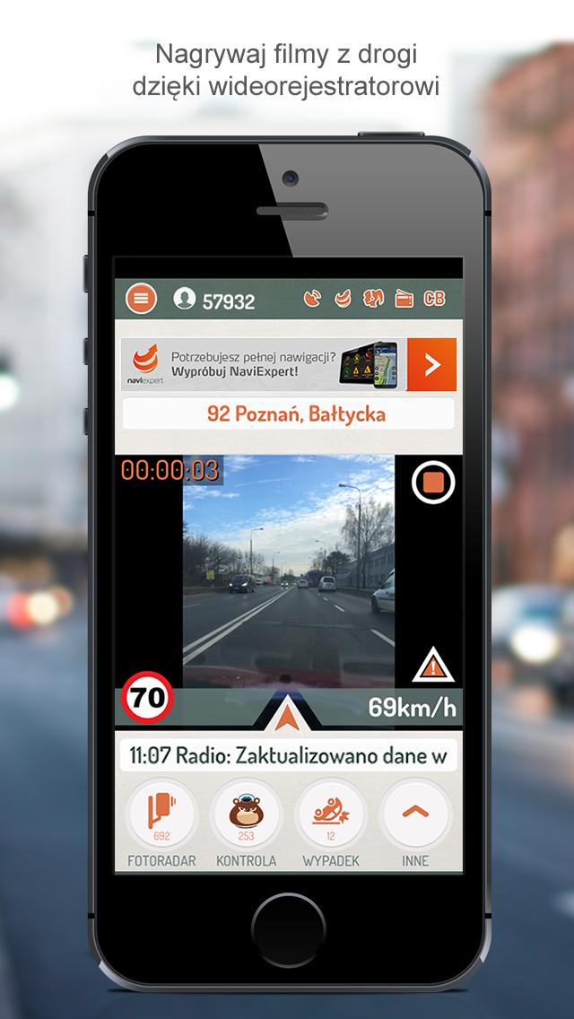 Wideorejestrator Rysiek na iOS