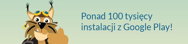 Rysiek - ponad 100 tysięcy instalacji z Google Play