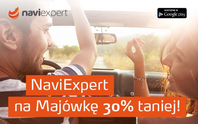 Roczny abonament NaviExpert na Majówkę 30% taniej