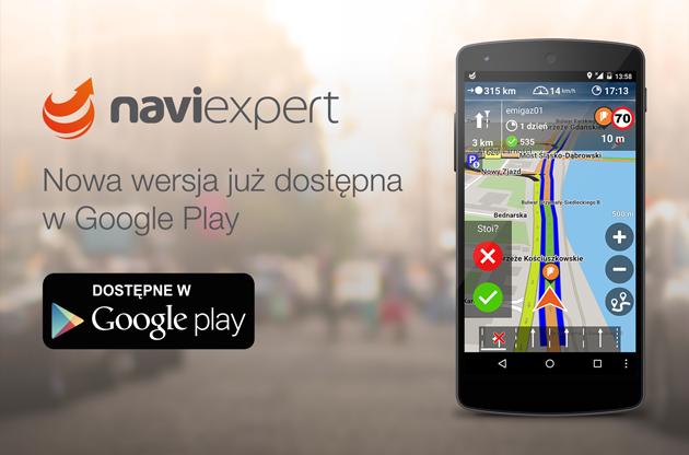 Nowa wersja NaviExpert dostępna w Sklepie Google Play