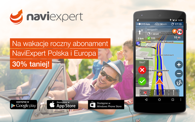 NaviExpert na wakacje 30% taniej!