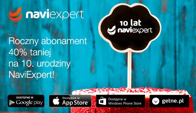Roczny abonament NaviExpert 40% taniej