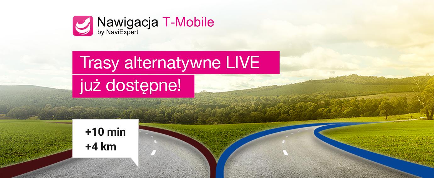 Nawigacja T-Mobile i trasy alternatywne Live od NaviExpert