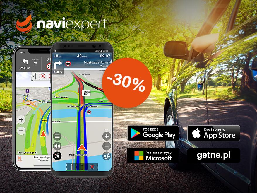 NaviExpert na majówkę 30% taniej!