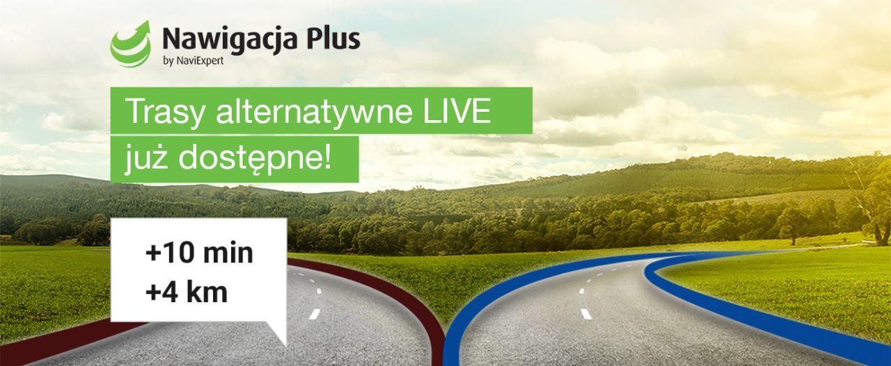 Nawigacja Plus z trasami alternatywnymi LIVE