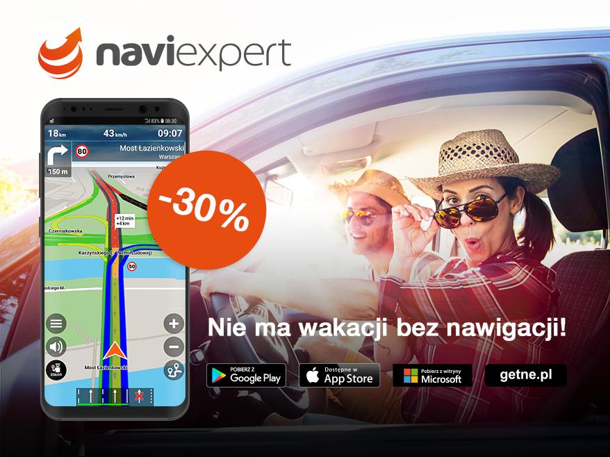 Rozpocznij wakacje z NaviExpert 30% taniej