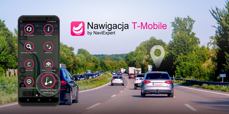Nawigacja T-Mobile z funkcją udostępniania lokalizacji
