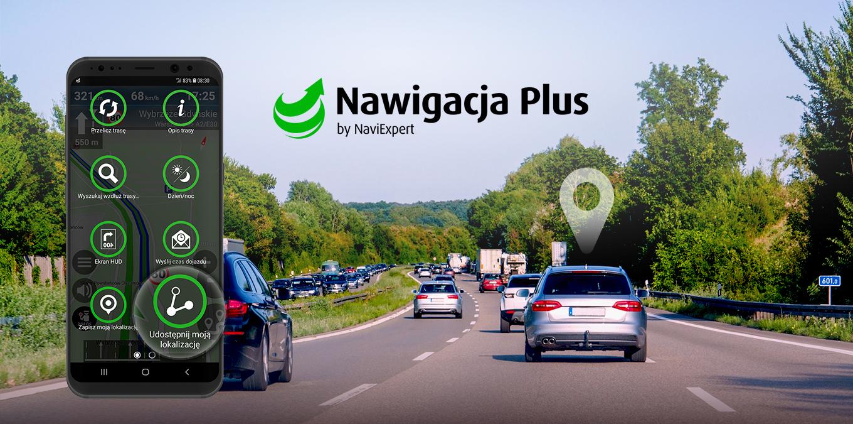 Nawigacja Plus z funkcją udostępniania lokalizacji