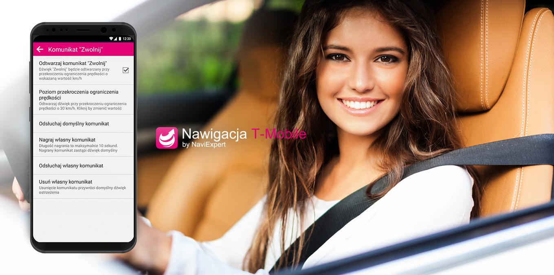 Nawigacja T-Mobile z głosem bliskiej osoby zwiększy bezpieczeństwo na drodze