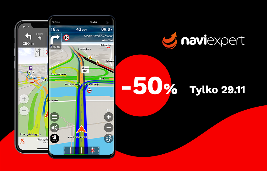 NaviExpert na Black Friday 50% taniej!